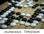 go. traditional asian strategy... | Shutterstock . vector #739023634