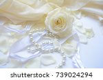 wedding congratulation on a... | Shutterstock . vector #739024294