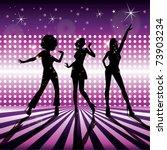 disco girls vector | Shutterstock .eps vector #73903234