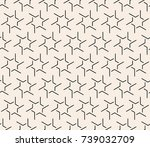 seamless abstract geometric... | Shutterstock .eps vector #739032709