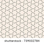 seamless abstract geometric... | Shutterstock .eps vector #739032784