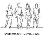 continuous line drawing of... | Shutterstock .eps vector #739033528