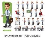 Set Of Businessman Cartoon...