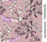hand drawn seamless pattern...   Shutterstock . vector #739043230