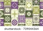 seamless modern ceramic tile... | Shutterstock .eps vector #739044364