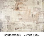 old newspaper background | Shutterstock . vector #739054153