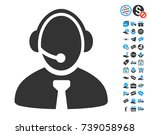 call center manager pictograph... | Shutterstock .eps vector #739058968