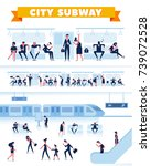city public transport. people... | Shutterstock .eps vector #739072528