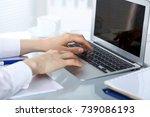 close up of business woman... | Shutterstock . vector #739086193