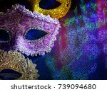 carnival masks  | Shutterstock . vector #739094680