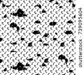 grunge black white. monochrome... | Shutterstock .eps vector #739095604