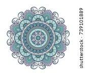flower mandalas. vintage...   Shutterstock .eps vector #739101889