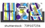 artistic funky design for print ... | Shutterstock .eps vector #739107256