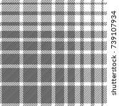 monochrome checkered print.... | Shutterstock .eps vector #739107934