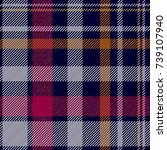 dark checkered print. seamless... | Shutterstock .eps vector #739107940