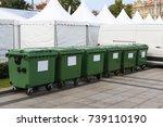 Six New Plastic Green Garbage...