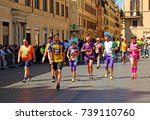 maratona di roma  rome marathon ... | Shutterstock . vector #739110760