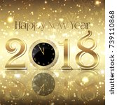 decorative happy new year... | Shutterstock .eps vector #739110868