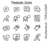 message  chat  discussion icon... | Shutterstock .eps vector #739111069