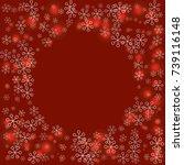 round frame or border christmas ... | Shutterstock .eps vector #739116148