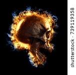3d Rendering  Of A Skull...