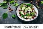 homemade autumn apple cranberry ... | Shutterstock . vector #739120534