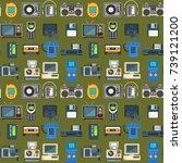 vintage technologies vector... | Shutterstock .eps vector #739121200