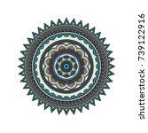 flower mandalas. vintage... | Shutterstock .eps vector #739122916