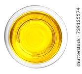 glass with oil on white... | Shutterstock . vector #739125574