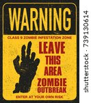 halloween warning sign danger... | Shutterstock .eps vector #739130614