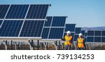 solar power station | Shutterstock . vector #739134253