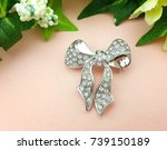 Brooch Silver Bow Beautiful...