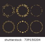 gold round frame set with... | Shutterstock .eps vector #739150204