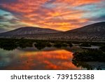 typical landscape of... | Shutterstock . vector #739152388