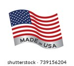 made in usa icon and vector | Shutterstock .eps vector #739156204
