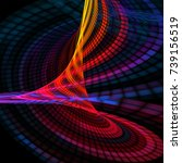 colorful abstract swirl pixel.... | Shutterstock . vector #739156519