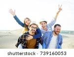 friends travelling together | Shutterstock . vector #739160053