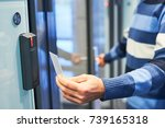 using electronic card key for... | Shutterstock . vector #739165318