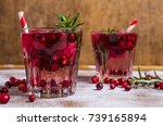Cold Drink With Berries And Ic...