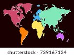 color world map | Shutterstock .eps vector #739167124