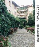 italian garden   Shutterstock . vector #739167214
