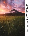 sunset at arenal volcano  la... | Shutterstock . vector #739174459