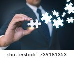 connecting together.... | Shutterstock . vector #739181353
