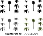 vector set date palms | Shutterstock .eps vector #73918204