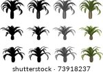 Vector Set Of Canary Date Palms