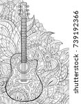 adult coloring page book a... | Shutterstock .eps vector #739192366