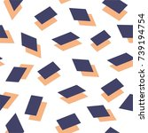 fancy abstract pattern vector | Shutterstock .eps vector #739194754