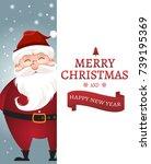santa claus character white...   Shutterstock .eps vector #739195369