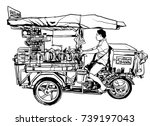 bangkok  thailand. street food... | Shutterstock .eps vector #739197043