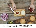home cooking. homemade homemade ... | Shutterstock . vector #739209520